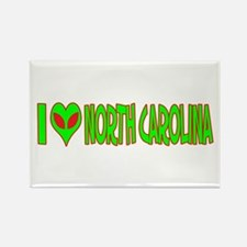 I Love-Alien North Carolina Rectangle Magnet