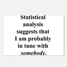 Statistically in Tune . . . Postcards (Package of