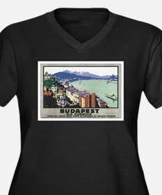 Budapest Hungary Women's Plus Size V-Neck Dark T-S