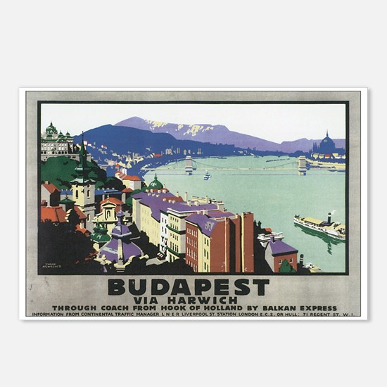 Budapest Hungary Postcards (Package of 8)
