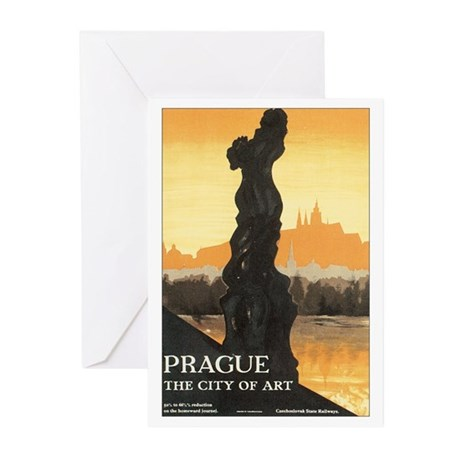 Prague Czechoslovakia Greeting Cards (Pk of 20)