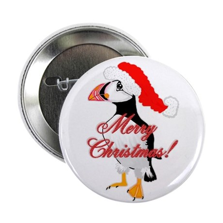 "Merry Puffin 2.25"" Button (10 pack)"