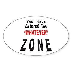 WHATEVER Oval Sticker (10 pk)