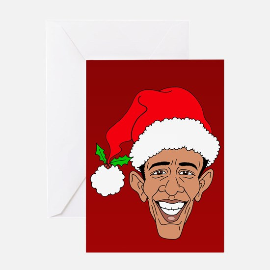 Obama Claus Red Greeting Card