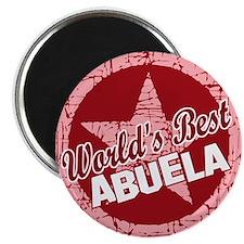 """World's Best Abuela 2.25"""" Magnet (10 pack)"""