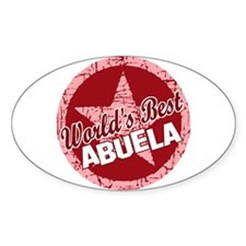 World's Best Abuela Oval Decal