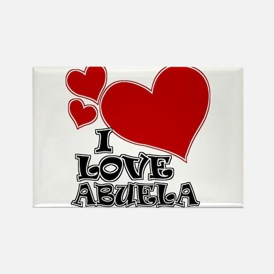I Love Abuela Rectangle Magnet