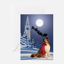 Sheltie & Santa Christmas Card