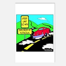 Speed Limit Enforced by Potholes Postcards (Packag