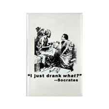 Socrates Humor Hemlock Rectangle Magnet