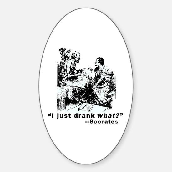 Socrates Humor Hemlock Oval Decal