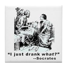 Socrates Humor Hemlock Tile Coaster