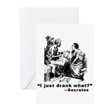 Socrates Humor Hemlock Greeting Cards (Pk of 10)
