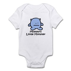Mommy's Little Blue Monster Infant Bodysuit