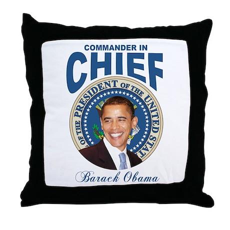 President Barck Obama t-shirt Throw Pillow