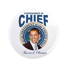 "President Barck Obama t-shirt 3.5"" Button"