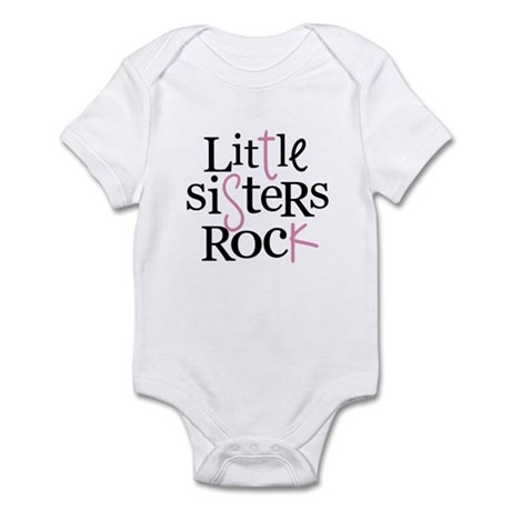 Little Sisters Rock - mixed color Infant Bodysuit