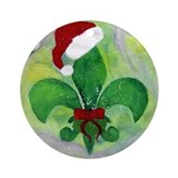 New orleans christmas Round Ornaments