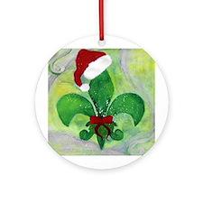 Christmas Fleur de lis Ornament (Round)