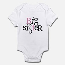 Big Sister - mixed type color Infant Bodysuit