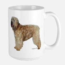 wheaten terrier portrait Large Mug