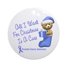 Bear In Stocking 1 (Prostate Cancer) Ornament (Rou