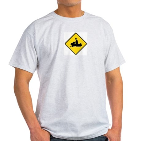 Snowmobile Crossing Light T-Shirt