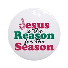 About Jesus Cane Ornament (Round)