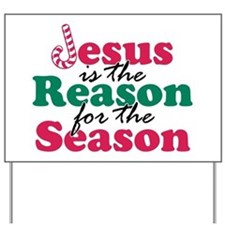 About Jesus Cane Yard Sign