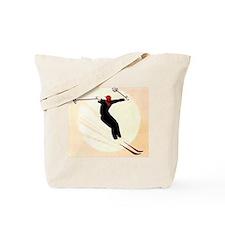 Vintage Ski Skiing Skier Tote Bag