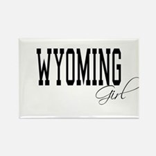 Wyoming Girl Rectangle Magnet