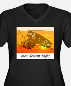 Incandescent Flight Women's Plus Size V-Neck Dark