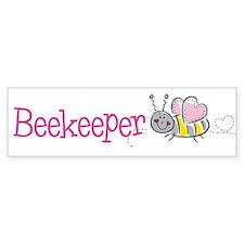 Cute Beekeeper Bumper Car Sticker