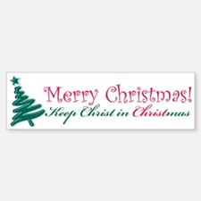 Merry Christmas tree Bumper Bumper Sticker