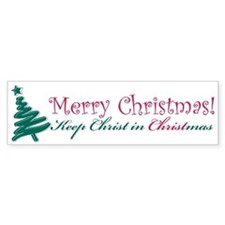 Merry Christmas tree Bumper Sticker