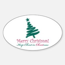 Merry Christmas tree Decal