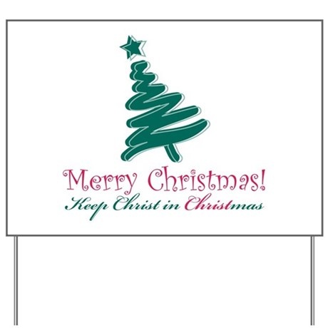 Merry Christmas tree Yard Sign