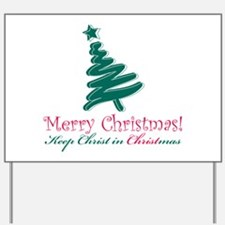 Merry Christmas tree Yard Sign