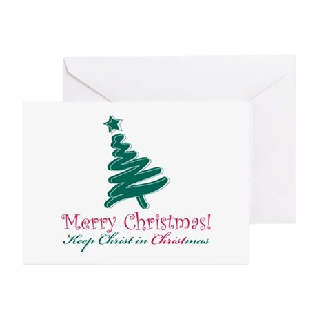 Merry Christmas tree Greeting Cards (Pk of 10)