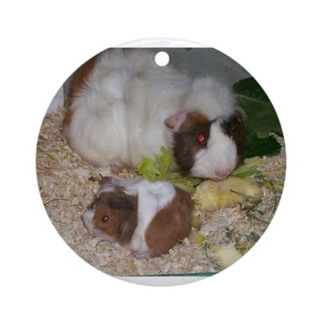 Niblet and his Momma Ornament (Round)