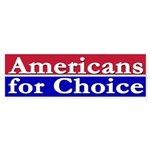Americans for Choice (bumper sticker)