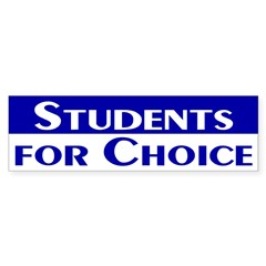 Students for Choice (bumper sticker)