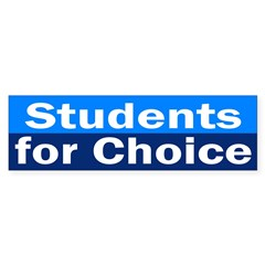 Students for Choice (pro-choice car sticker)