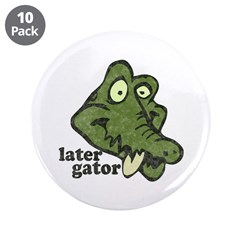 "Distressed Vintage Later Gato 3.5"" Button (10"