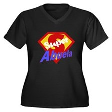 Super Abuela Women's Plus Size V-Neck Dark T-Shirt