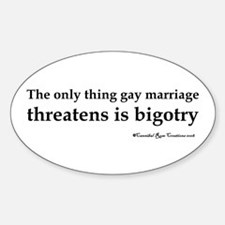 Stop Bigotry Oval Decal