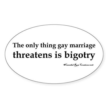 Stop Bigotry Oval Sticker
