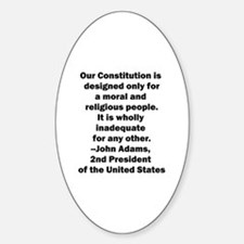 John Adams Quote Oval Decal
