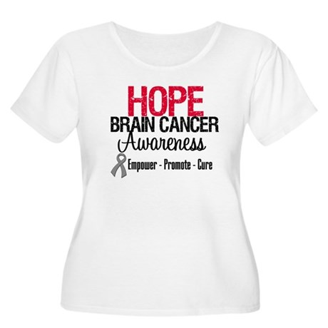 Hope Brain Cancer Women's Plus Size Scoop Neck T-S