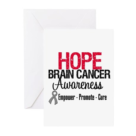 Hope Brain Cancer Greeting Cards (Pk of 10)
